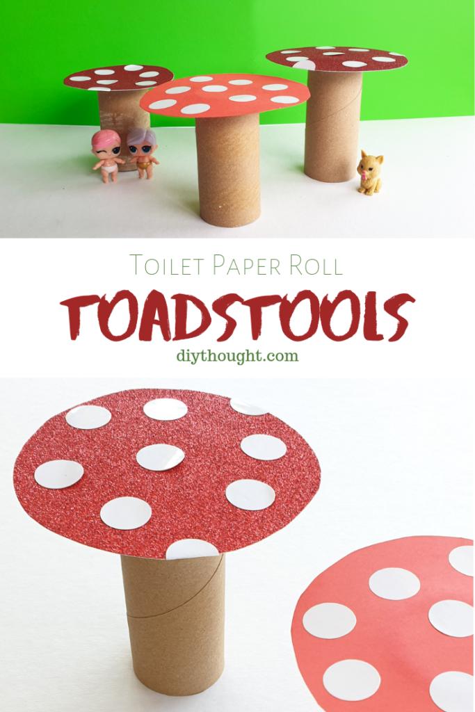toilet roll tube toadstools