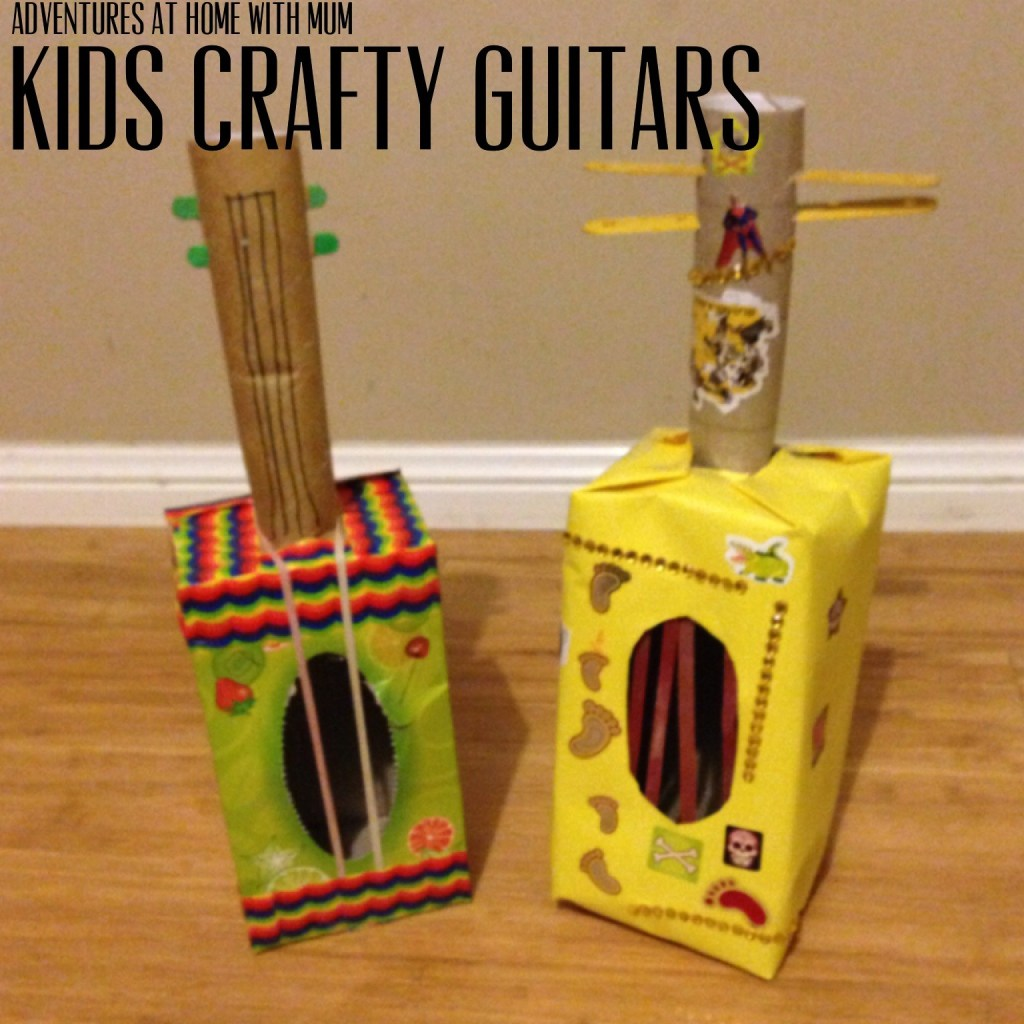 tissue box toy guitar