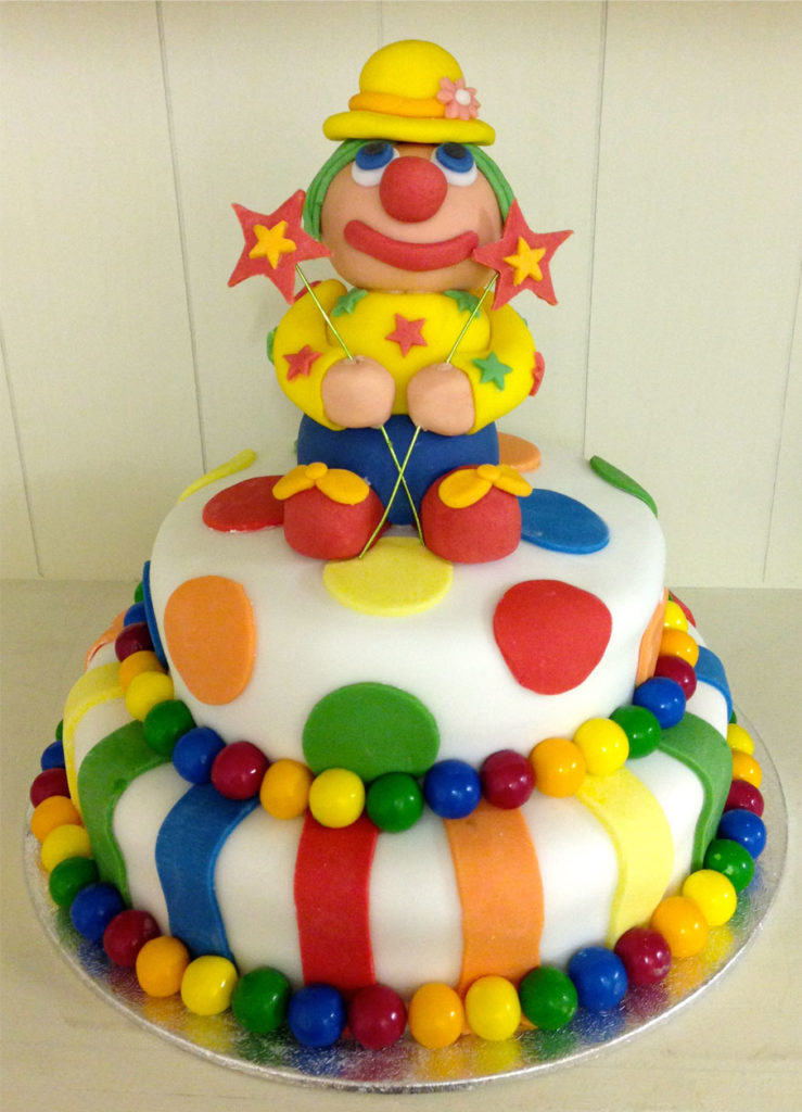 how to make fondant clown cake