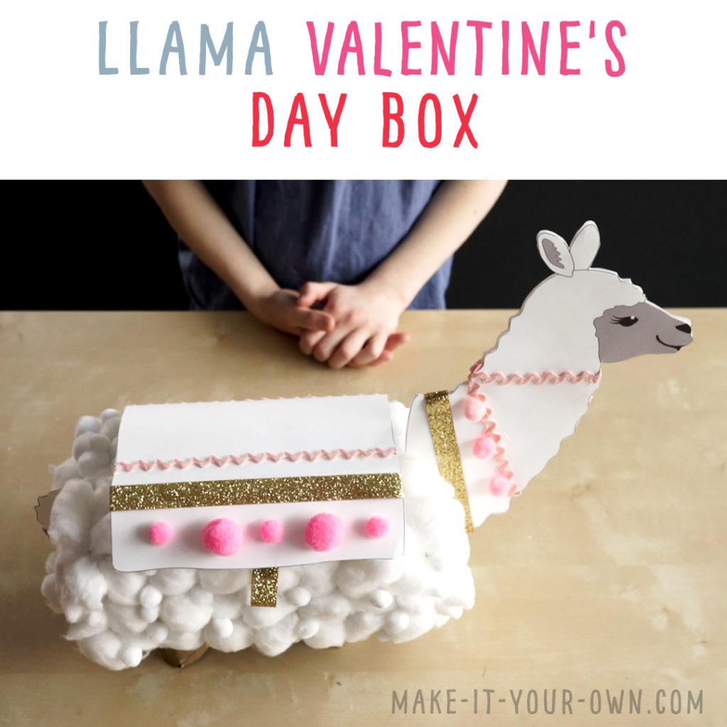 llama treasure box from tissue box