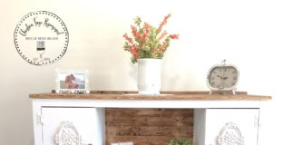tv stand upcycle