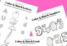 color and match printables
