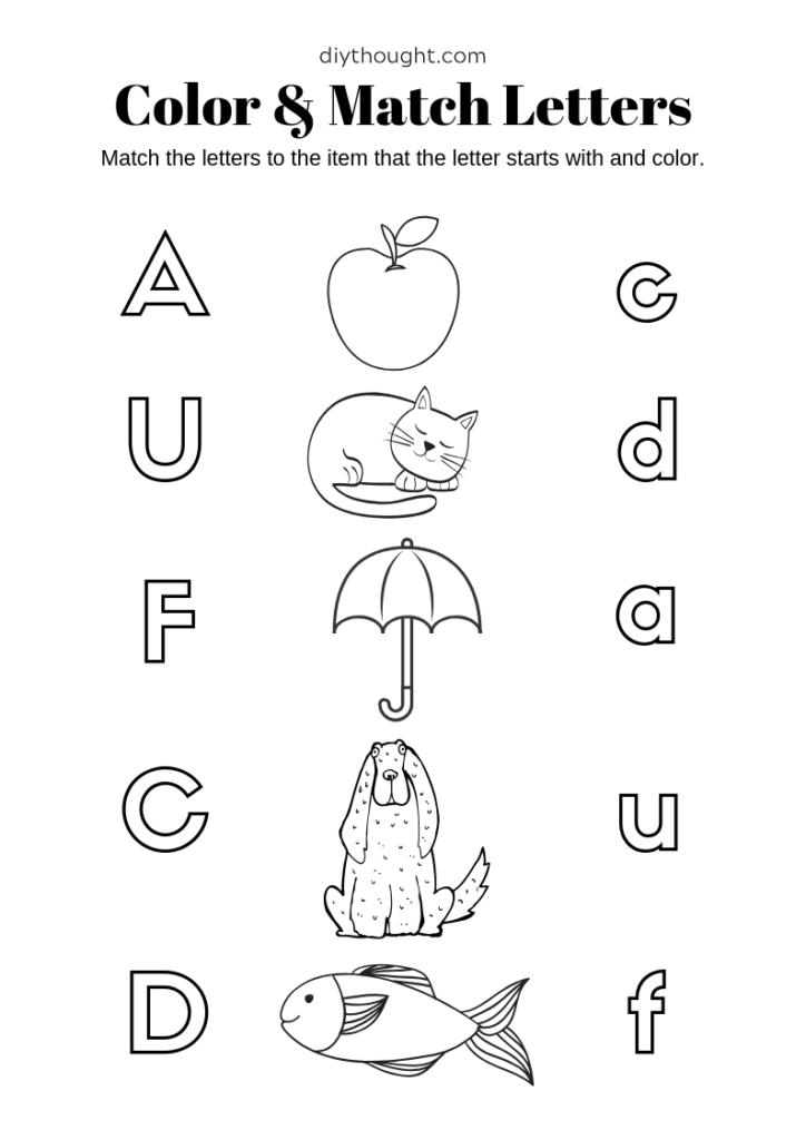 letter matching worksheet printable free