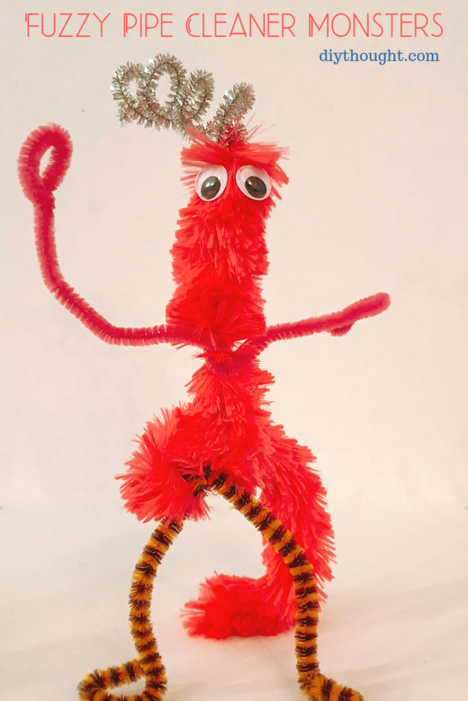giant pipe cleaner fuzzy monster craft