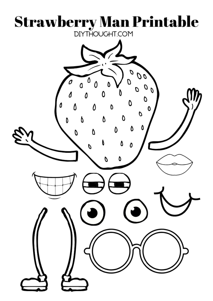 strawberry man printable free