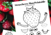 strawberry man printable craft
