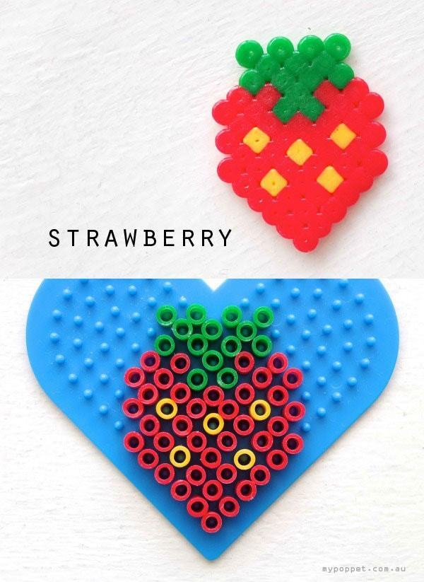 Hama/ Perler Bead Strawberry