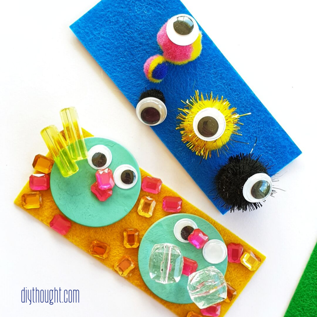 felt monster face craft