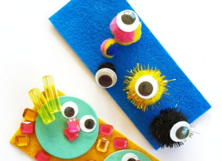 monster felt faces