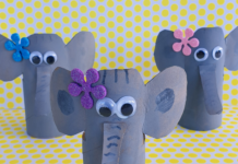 recycled toilet roll elephants
