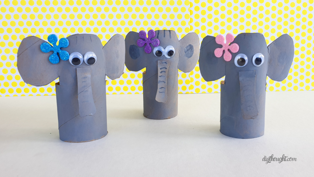 Toilet paper roll elephant kids recycled craft