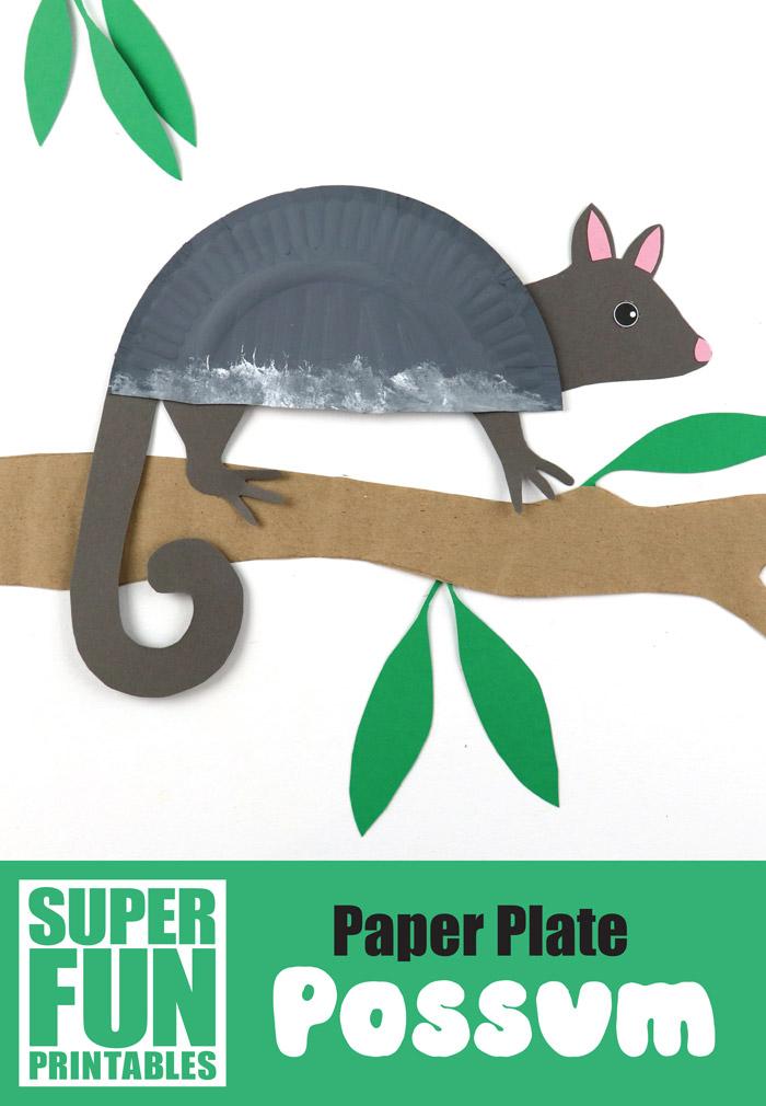 paper plate possum