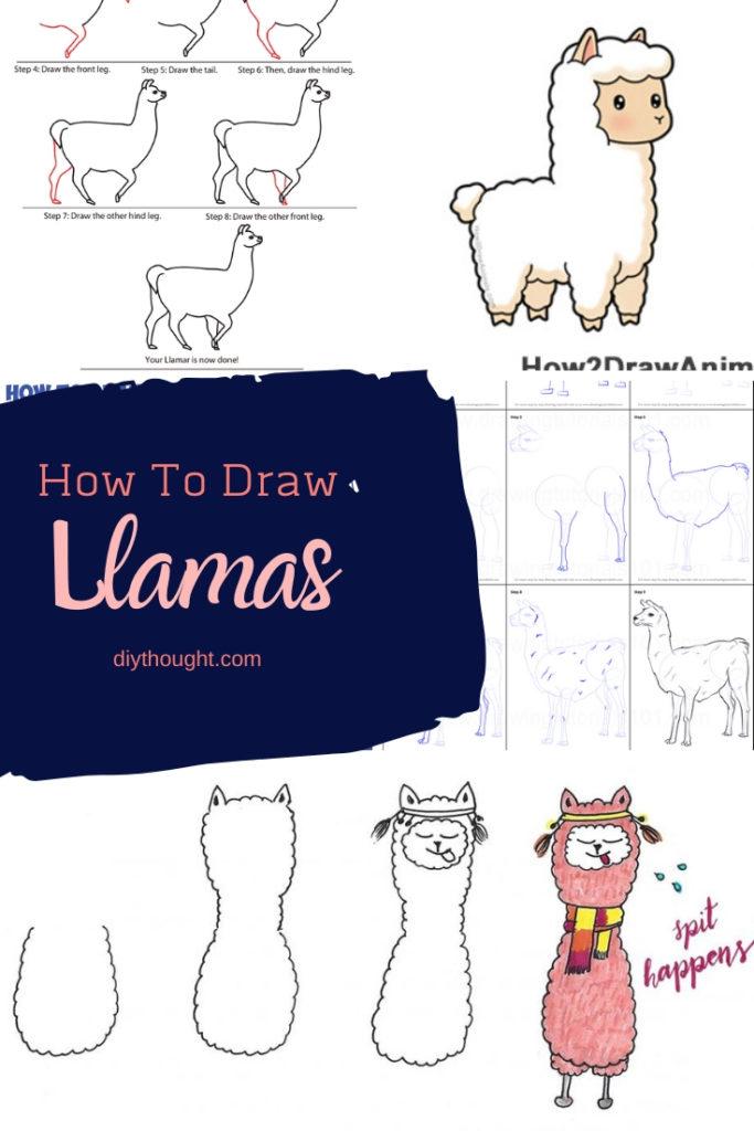 how to draw llamas