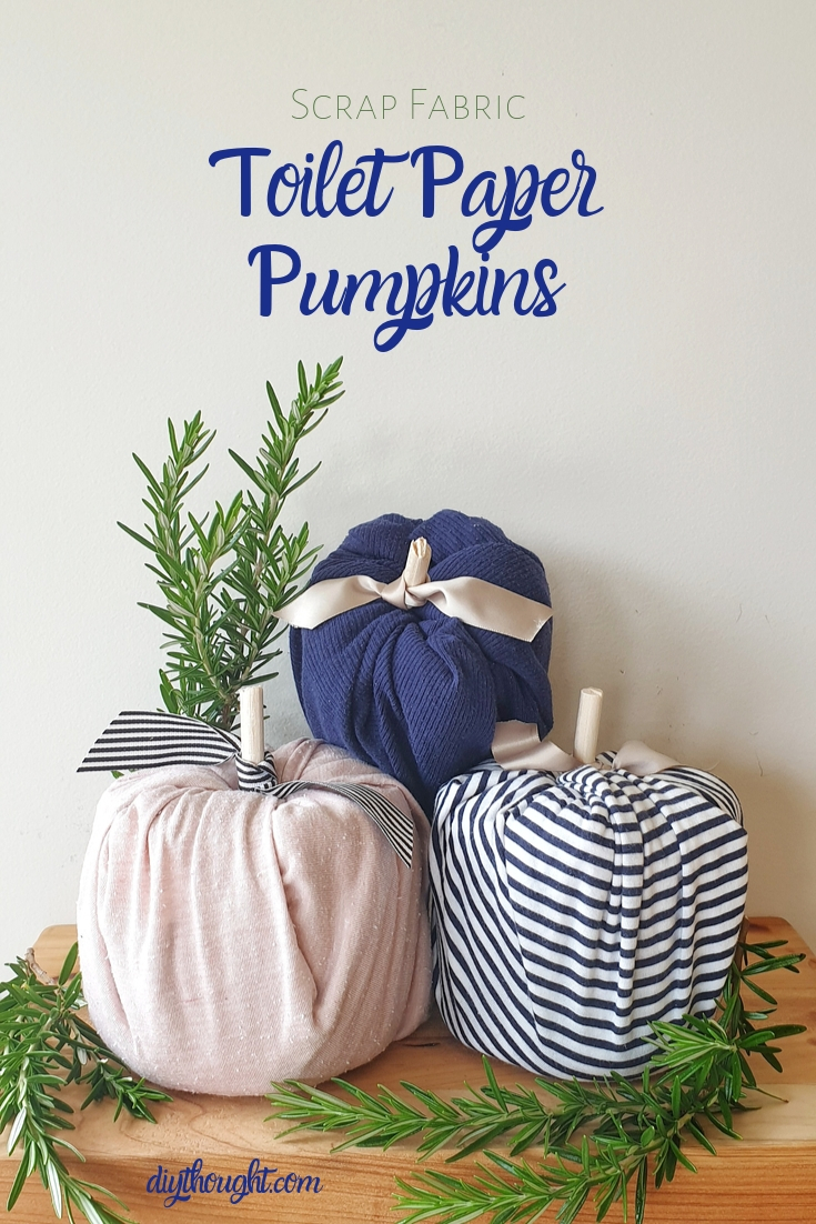 toilet paper and fabric pumpkins