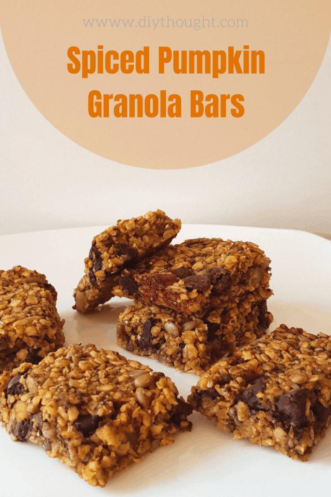 spiced pumpkin granola bars
