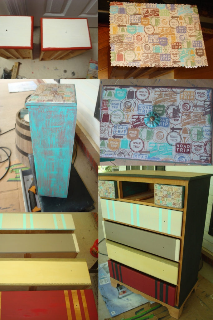 Upcycled faux suitcase drawers the process