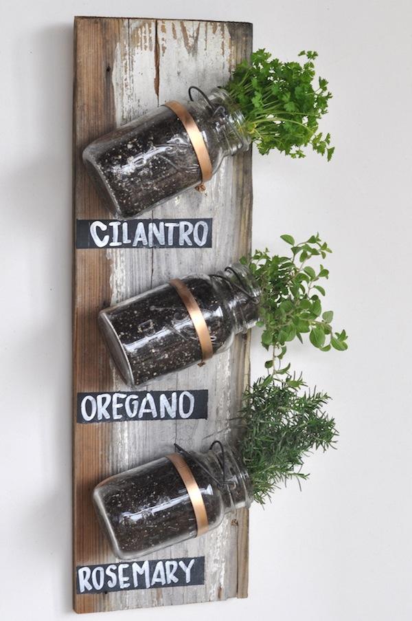mason jar plant pot