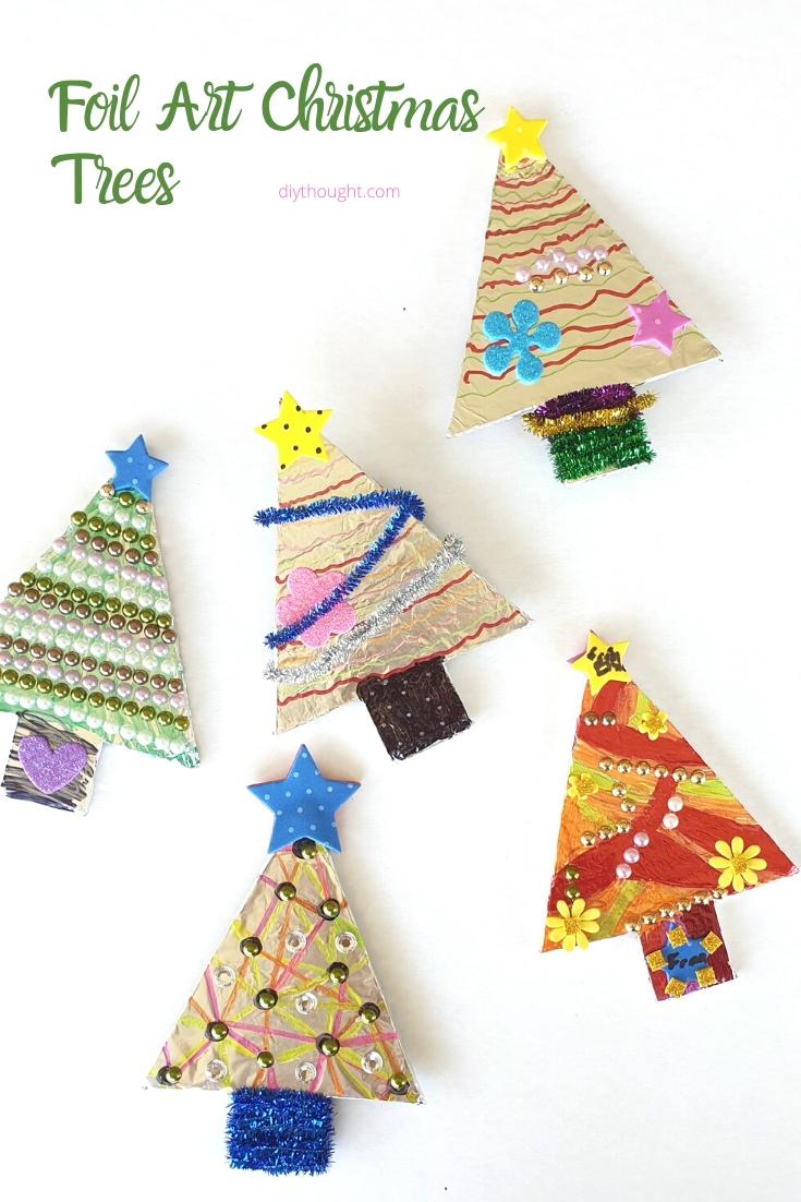 foil art sharpie Christmas tree