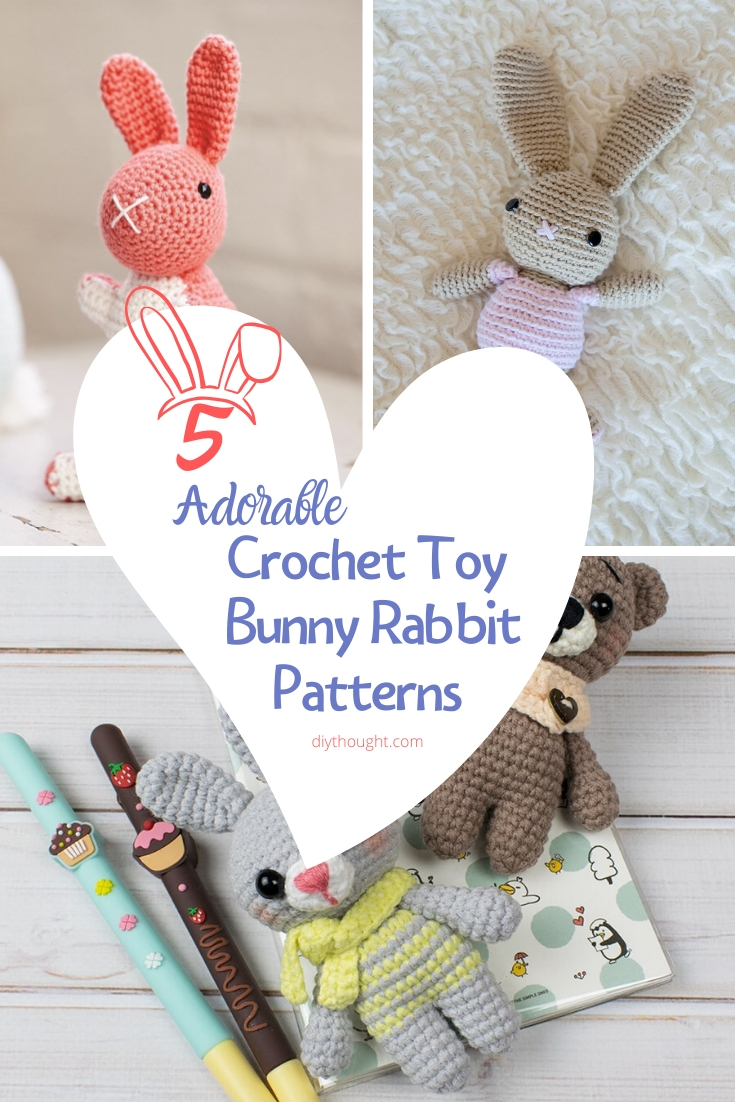 5 adorable crochet toy bunny rabbit patterns