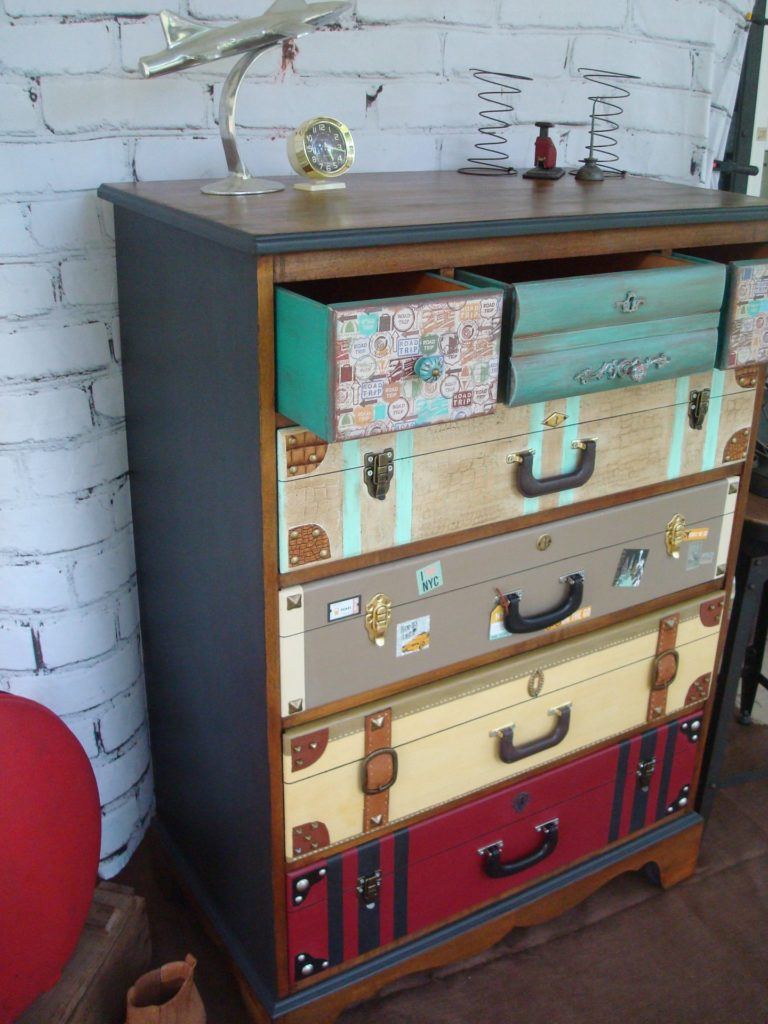 Faux Suitcase Dresser Upcycle