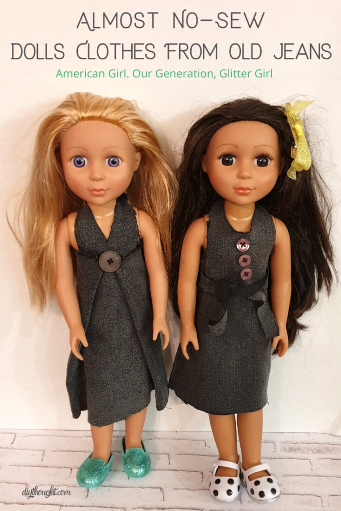 no sew dolls clothes from jeans