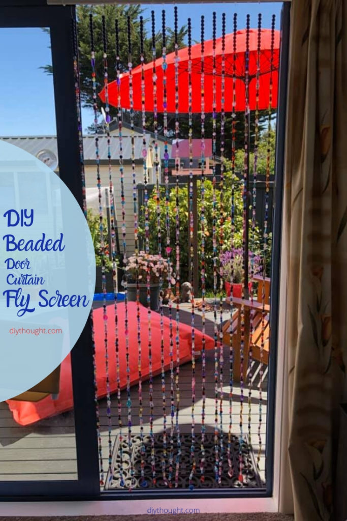 DIY beaded door curtain fly screen