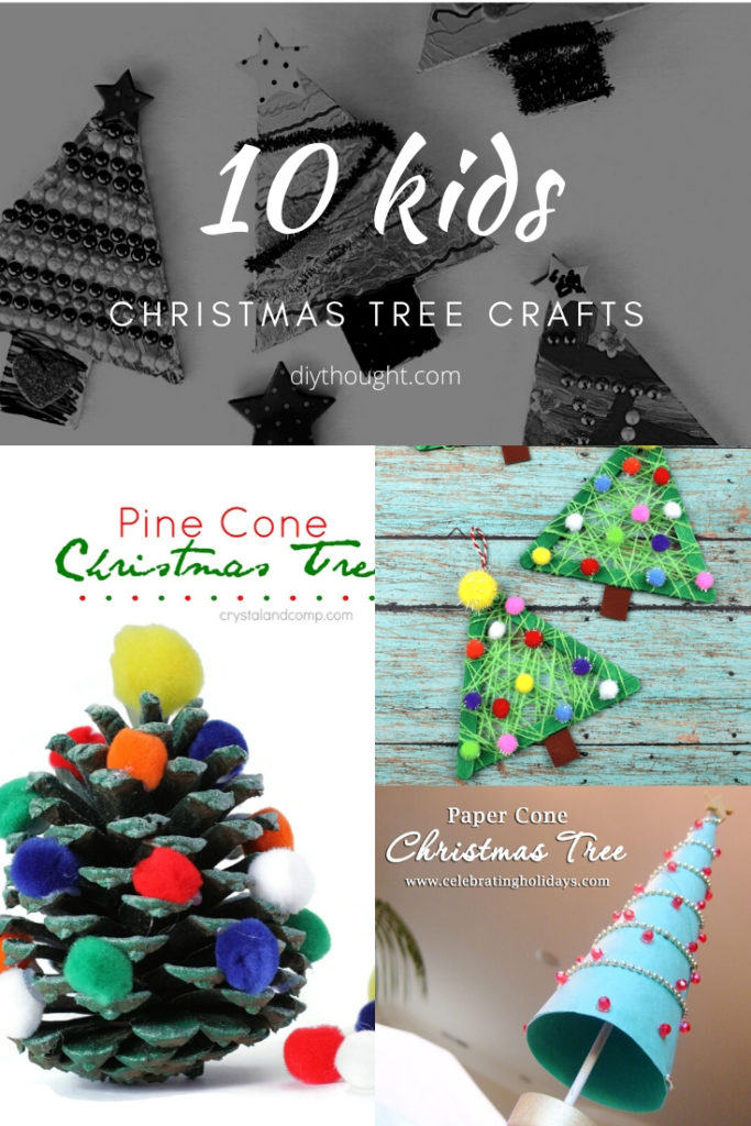 10 kids christmas tree crafts
