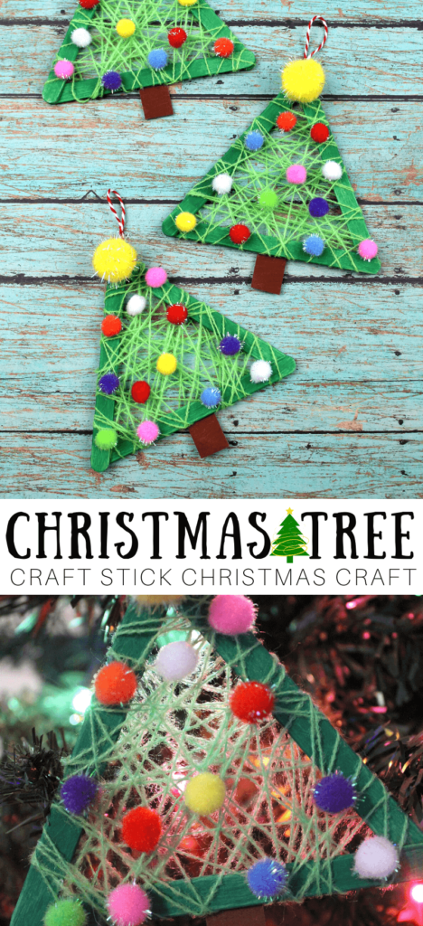 craft stick christmas trees