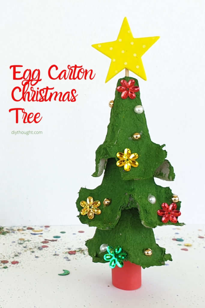 egg carton christmas tree craft