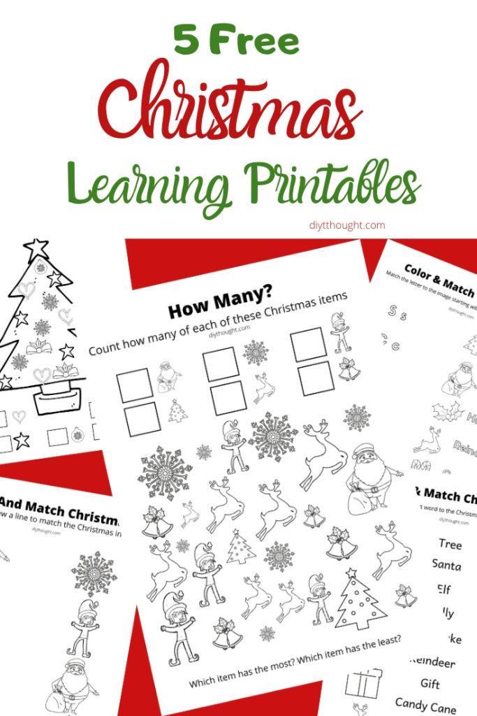 christmas learning printables