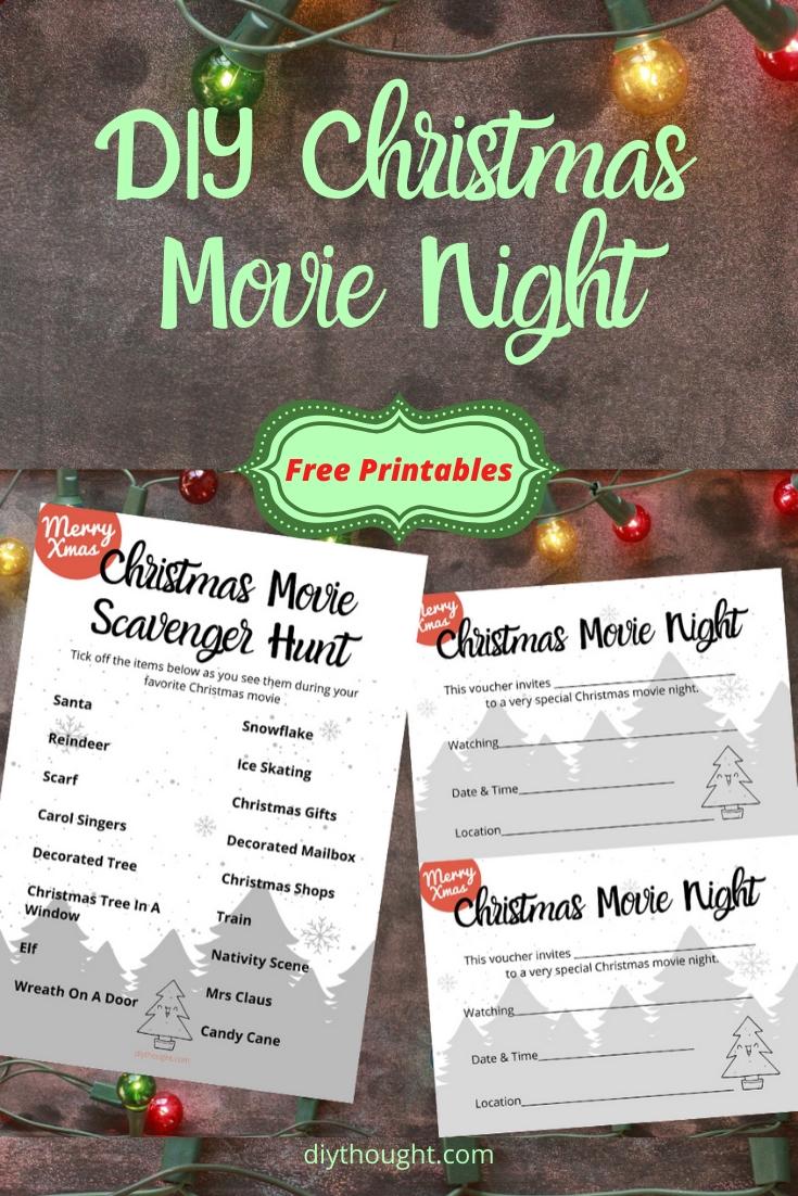 DIY Christmas Movie Night with free printables