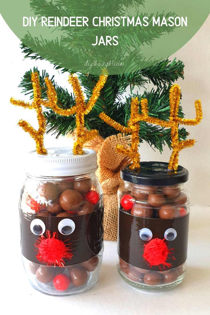 reindeer DIY mason jar