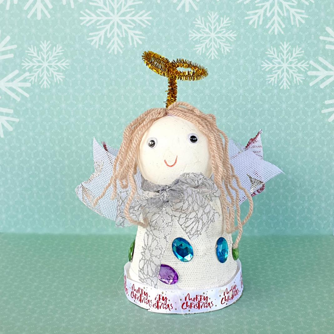 pot diy angel craft