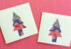 DIY christmas tree cards
