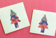 DIY christmas tree cards