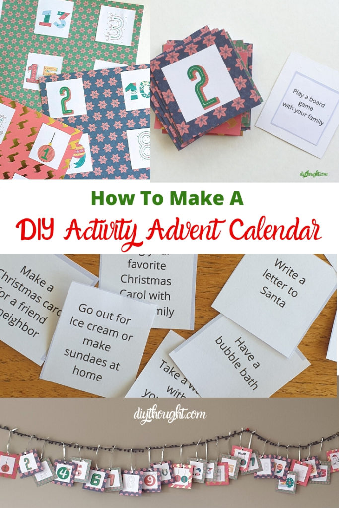 how to make a DIY activity advent calendar
