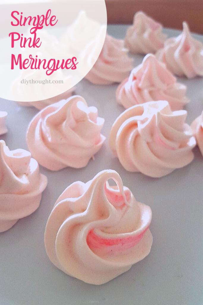 Simple Pink Meringues