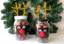 mason jar reindeer