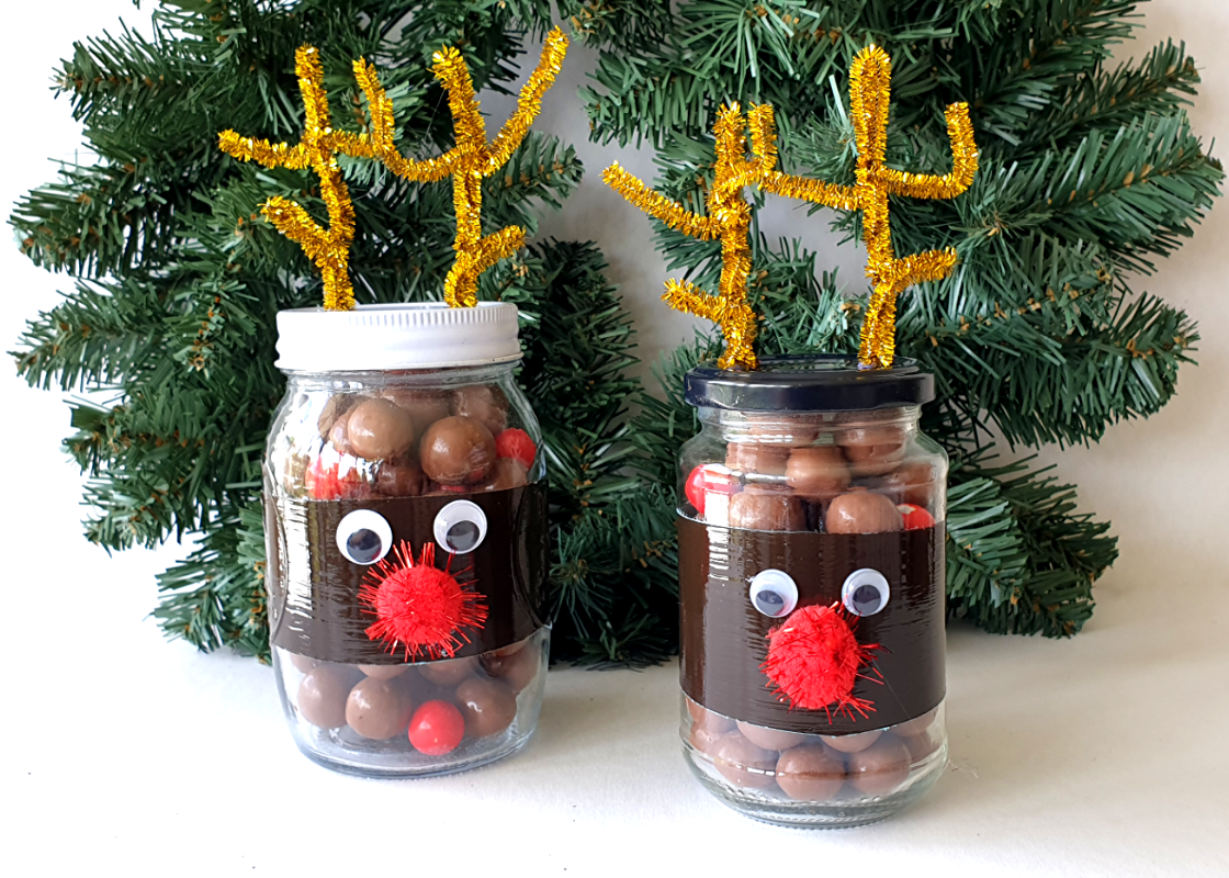 Diy Reindeer Christmas Mason Jars Diy Thought