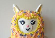 DIY llama cake