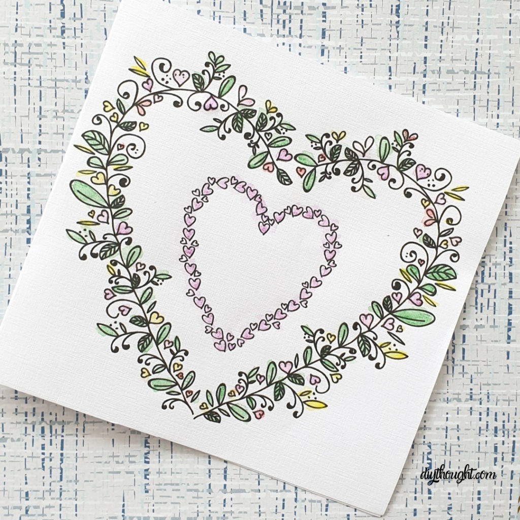 Heart Wreath Card Printable