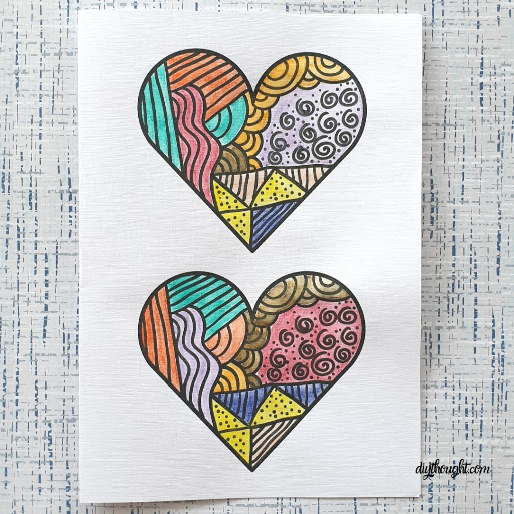 Funky Heart Card Printable