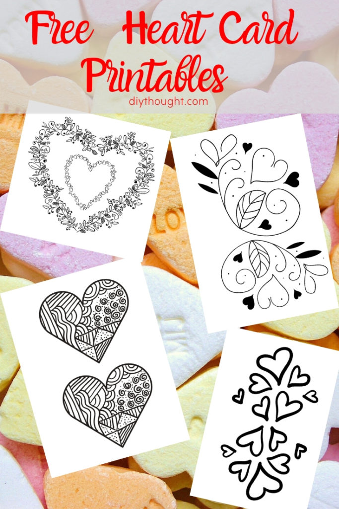 free heart card printables