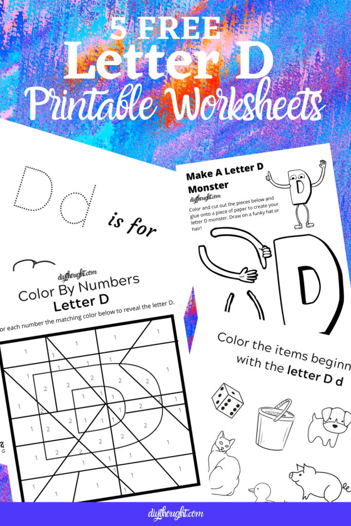 5 free letter D printable worksheets
