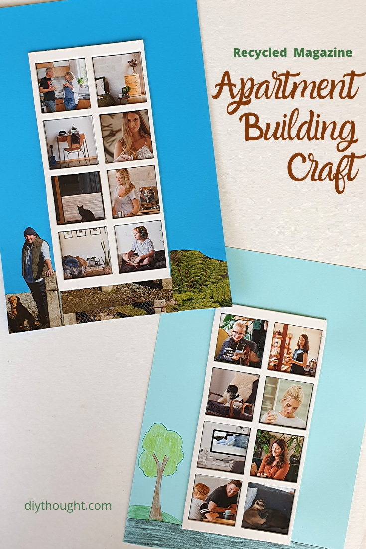 Recycled Magazine Apartment Building Craft