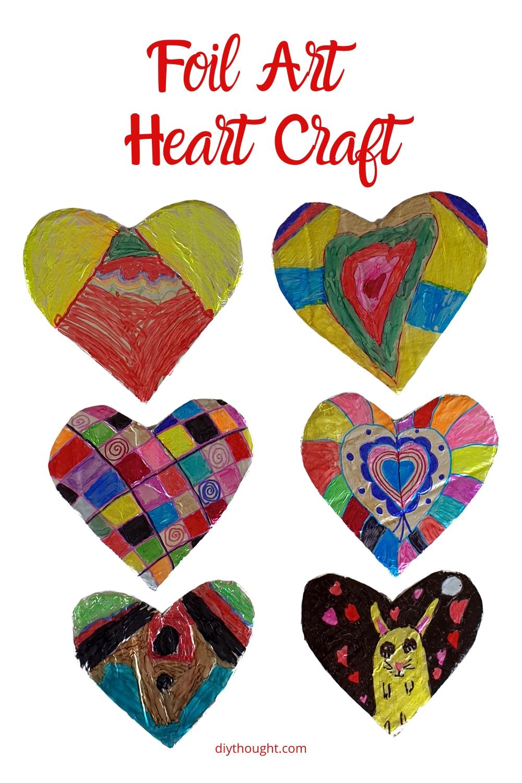 foil art heart craft