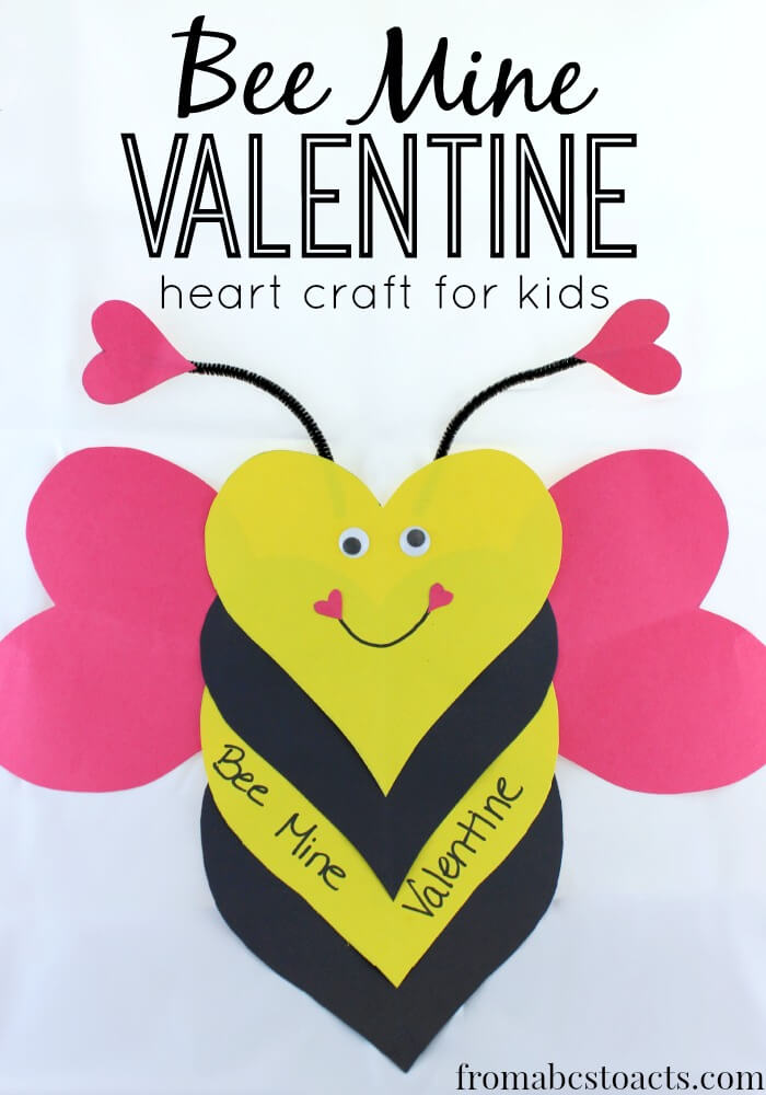valentine heart bee