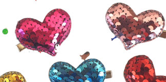 DIY heart hair clips