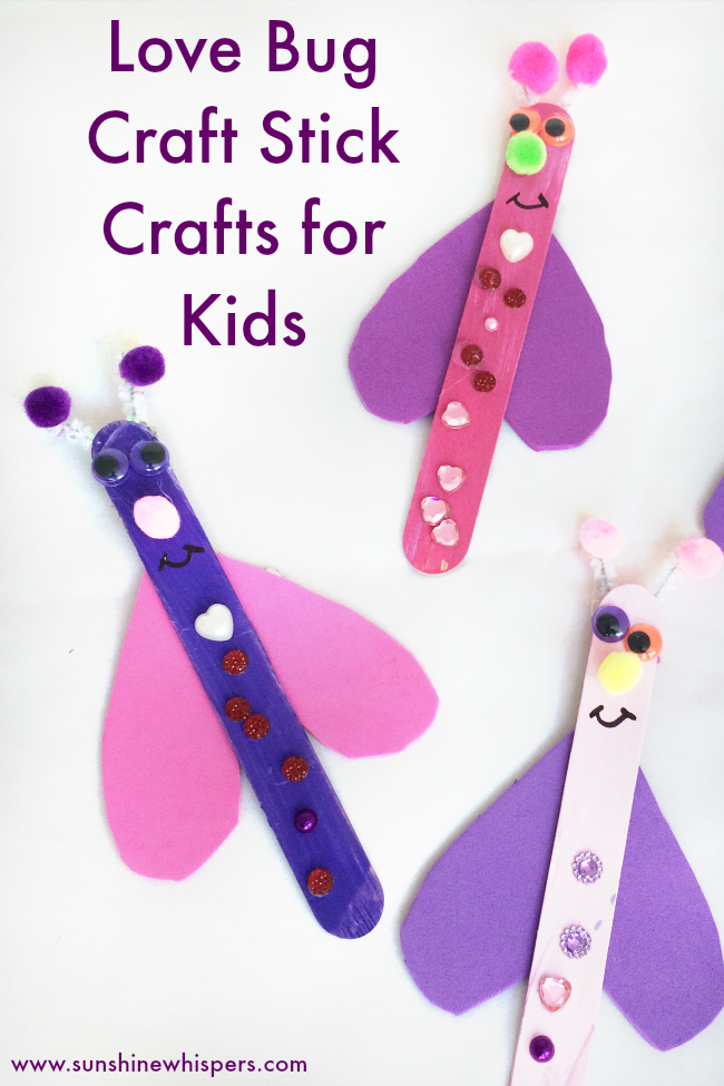 love bug craft stick craft