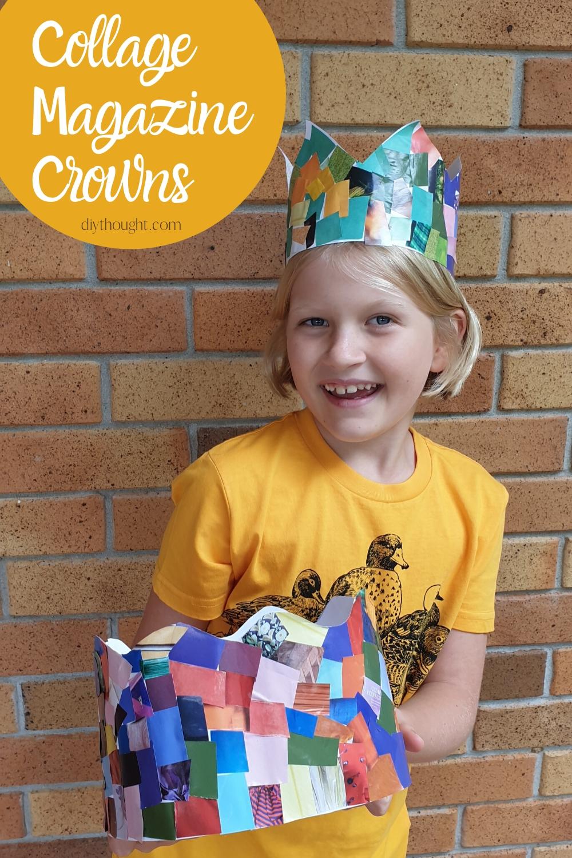 collage magazine crown craft